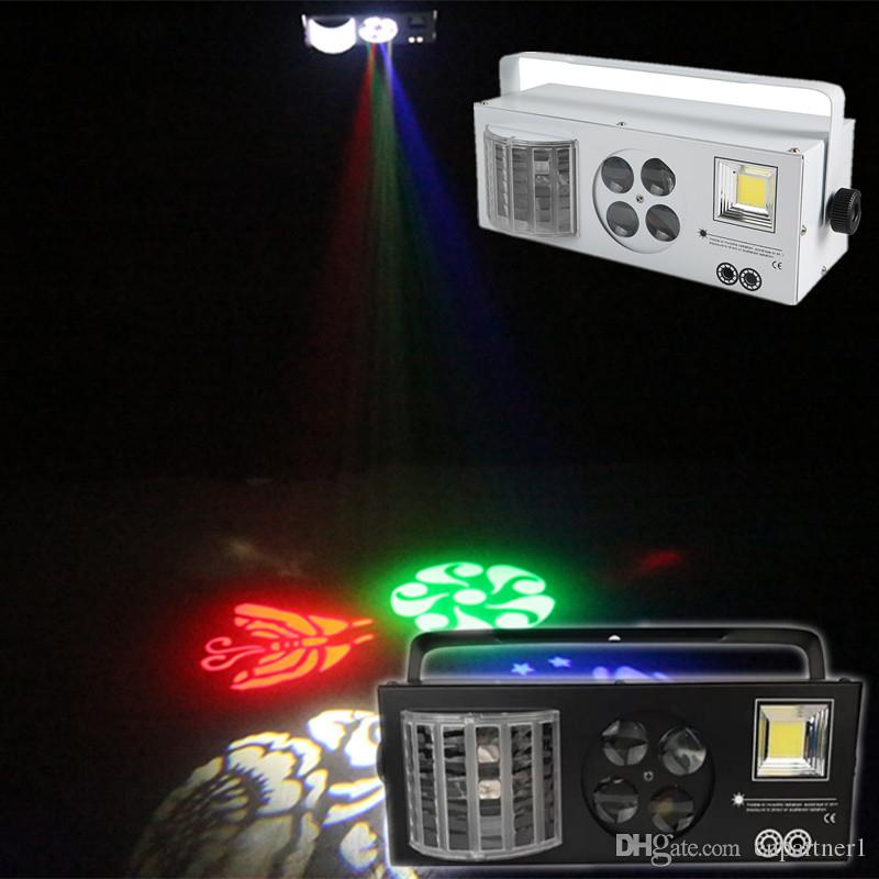 in stock 4 in1 LED effect Laser flash Gobo Strobe butterfly derby light DMX512 Disco Club Party Bar Light Auto Sound stage light effect lamp