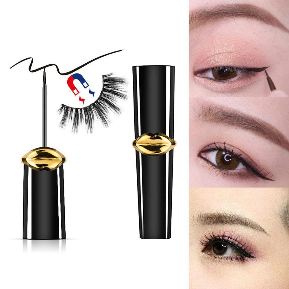 Eyeliner magnétique, Lashliner magnétique pour utilisation avec False Lashes (8ML) Est durable, résiste au maculage et imperméable, meilleur maquillage des sourcils