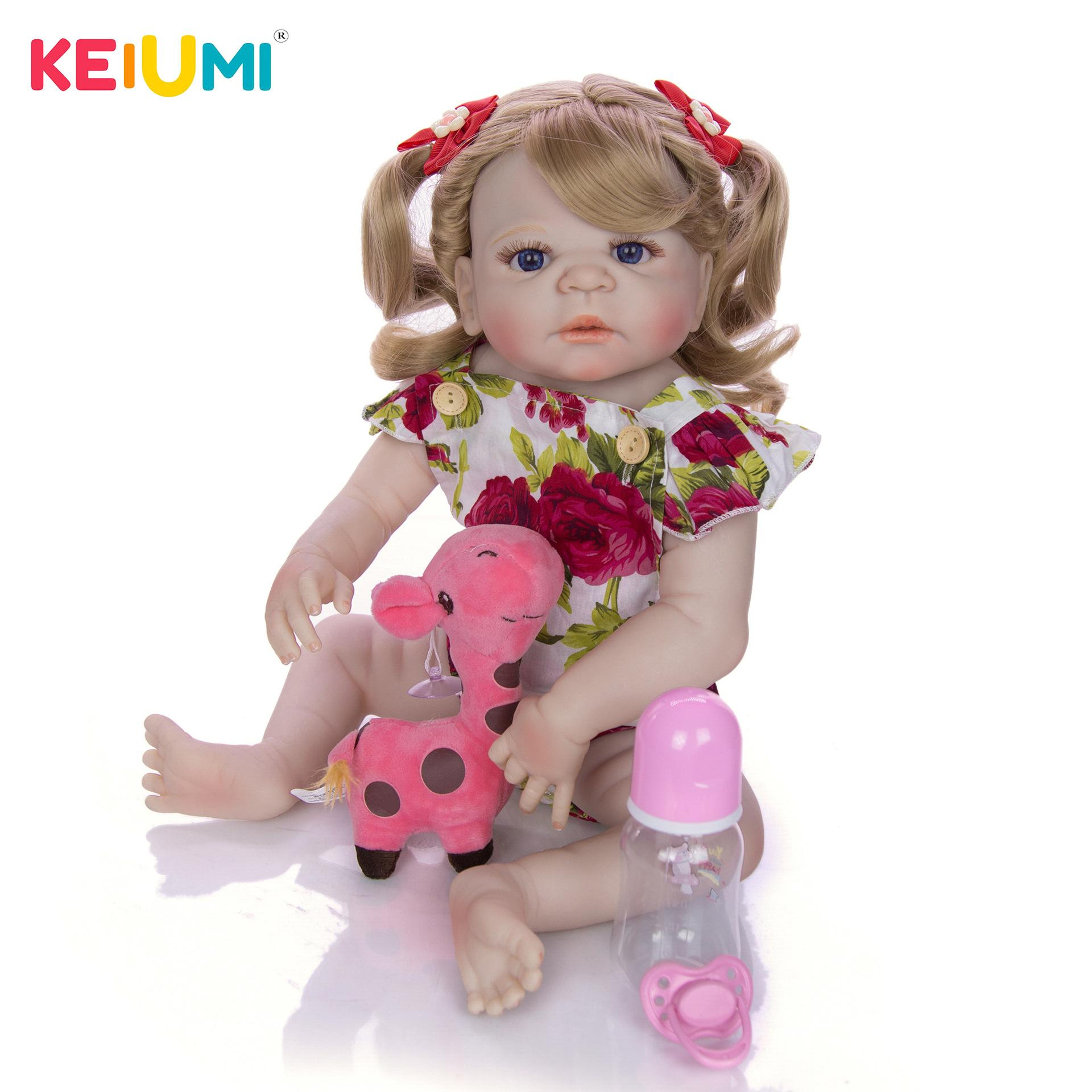 Toddler Reborn Baby Girl Dolls 20/'/' Lifelike Curly Hair Adorable Toys Kids Gifts