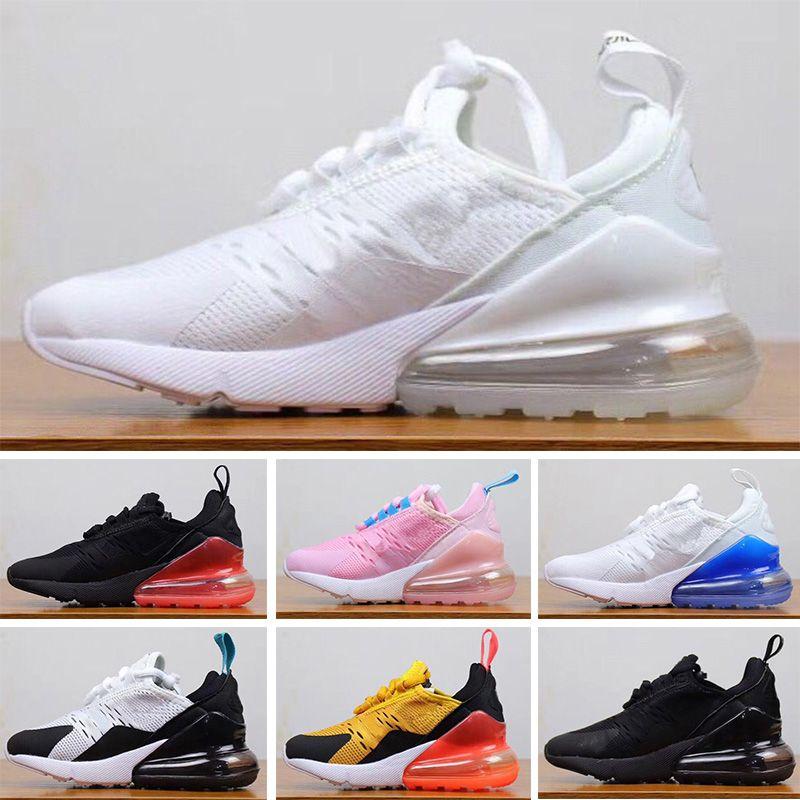 Nike Air Max 270 2019 أطفال أحذية رياضية الأطفال 27 أحذية كرة السلة الذئب الرمادي 27O رياضة 27 ثانية طفل لصبي فتاة طفل chaussures