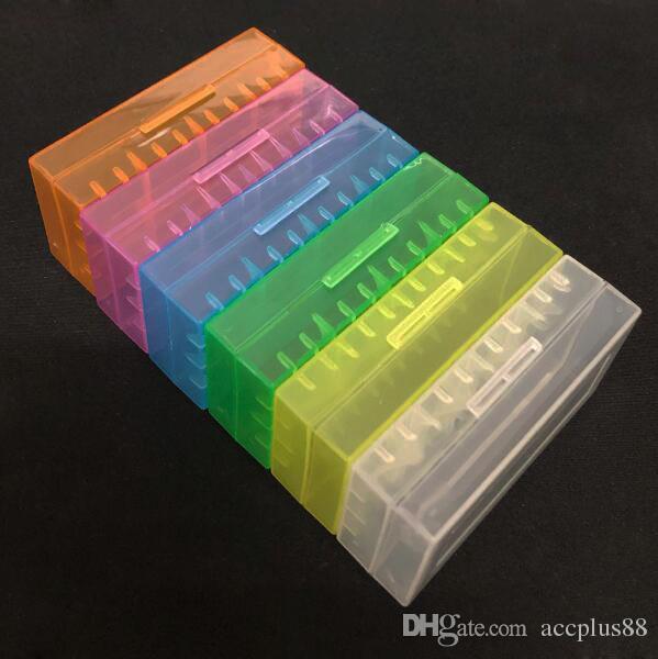 Портативный пластиковый чехол для батарейного отсека Защитный держатель Хранение Контейнер для батарей для 2 * 18650 или 4 * 18350 литий-ионных аккумуляторов e cig