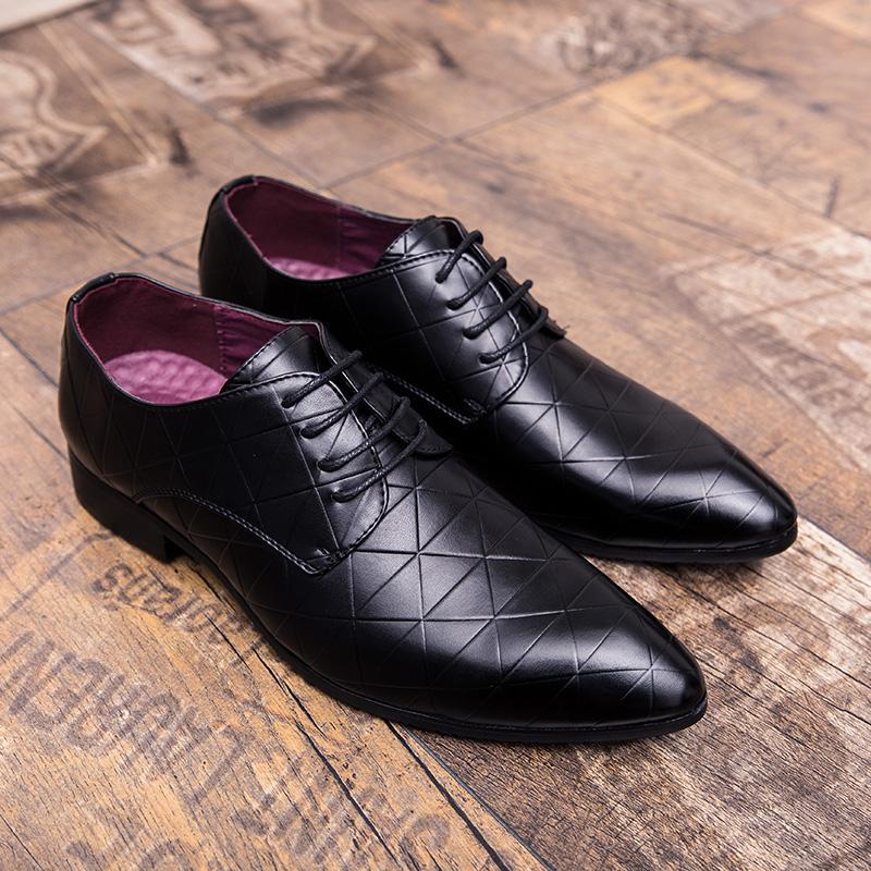 2020 del cuero al aire libre de los hombres zapatos de vestir zapatos de fiesta de boda formal para Oxford Hombres Hombres Brogue de W5 informal