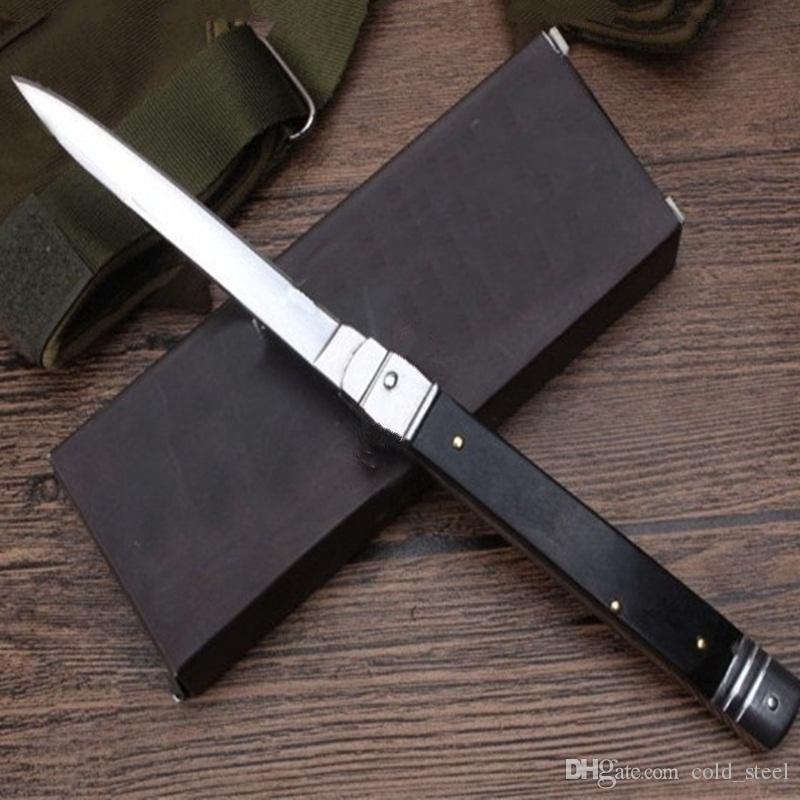 OEM MICT mafiosi 11 pollici classico manico in palissandro singola azione Ita coltello autotf lame del regalo lama di campeggio per l'uomo 1pcs