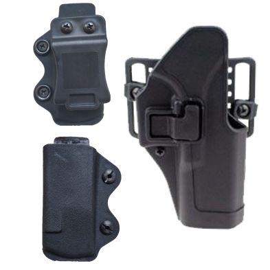 Yeni Hızlı çekme tabanca kol ve dergi tutucu seti profesyonel taktik aksesuarları PA6 malzemesi 1 kılıf 2 kartuş tutucu Gizli.