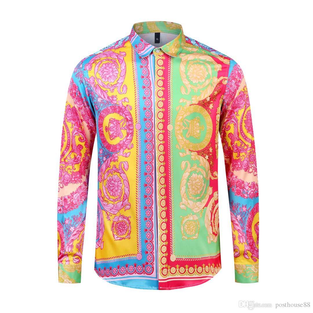 10 Шт.лот DHL бесплатная доставка Новая Медуза Повседневная Рубашка Мужская Slim Fit Рубашки Модные Повседневные Рубашки Платья Мужчины Конструкции рубашки