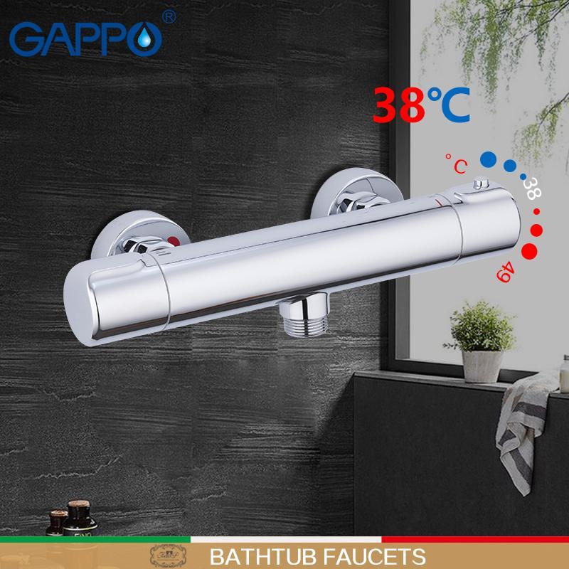 Gappo vasca da bagno rubinetti miscelatore termostatico doccia bagno doccia per l'ottone bagno rubinetto cromato termostato rubinetto miscelatore