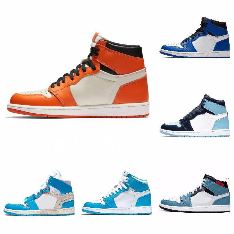 Новый 1S High Top 3 Разрушенного OG Бред Toe Banned Game Royal Обувь Мужская 1S Тень тапок высокого качество с коробкой J # 08-014