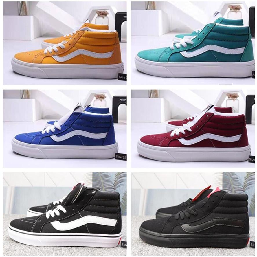 2019 Original Van old skool black white yacht club FEAR OF GOD Slip On Checkerboard Red canvas mens sport sneakers fashion casual shoes