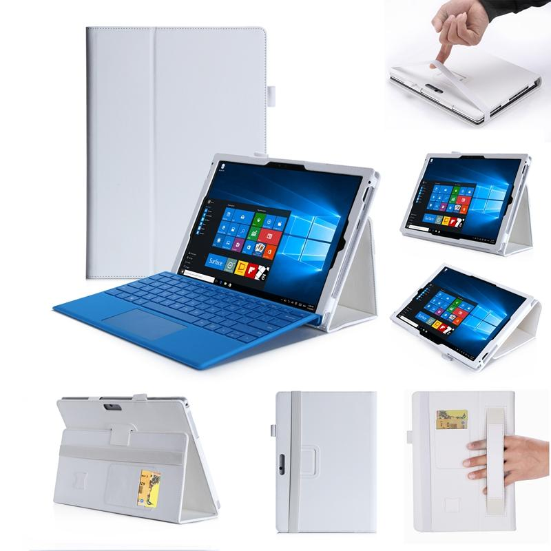 30pcs Luxury PU Leather Case Cover for Microsoft Surface Pro 2017 Pro 6 2018 Pro 3 4 5 12.3 inch Tablet Hand Holder Grip Shell Card Slots