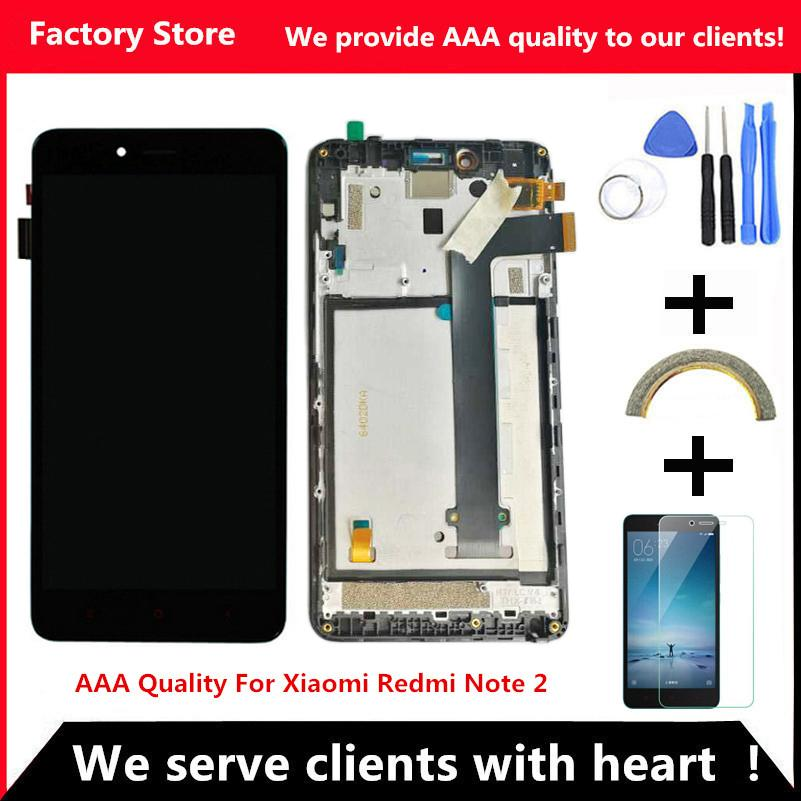 Q&Y QYJOY Quality LCD For Xiaomi Redmi Note 2 Lcd Display Screen Replacement For Hongmi Note 2 Digiziter Aseembly