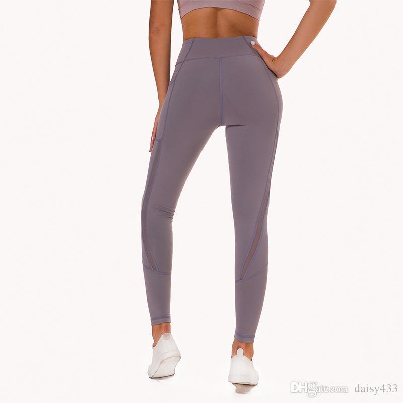 Großhandel Damen Yoga Hose Aus Netzgewebe Mit 2 Taschen, Nicht Durchsichtige 4 Wege Stretchgamaschen Mit Hohem Bauchumfang Von Daisy433, $23.12 Auf