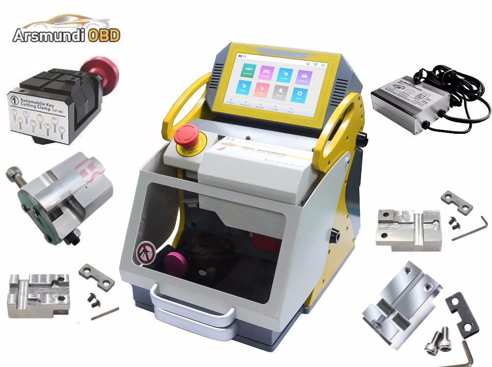 2020 Newest Full 6 Clamps Original SEC E9 CNC Automatic Key Cutting Machine For Car Keys & House Keys Better Slica I80 Key Maker