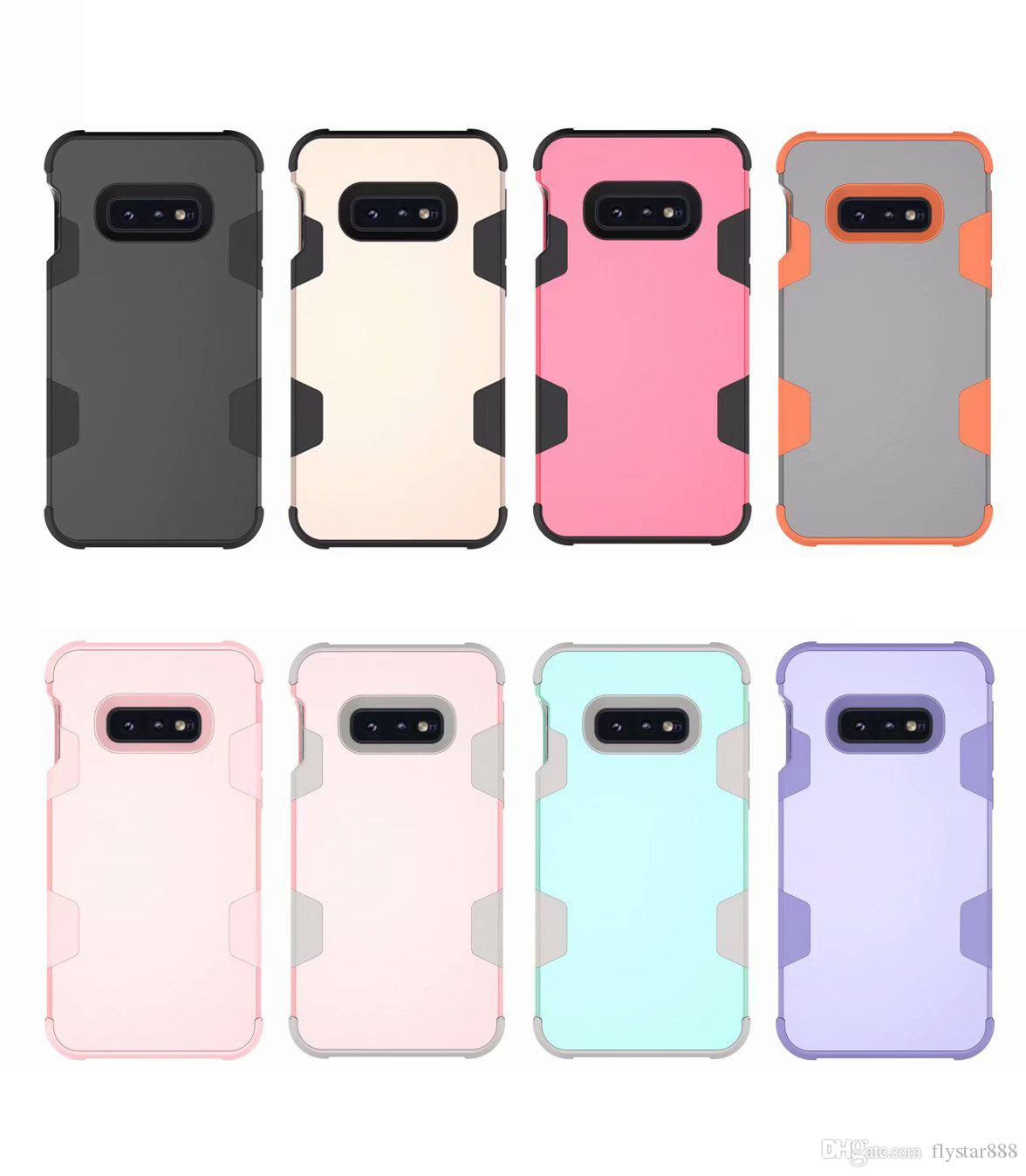 3 in 1 Robot Hybrid TPU Commuter Shockproof Armor Case Cover For iPhone Xs Max XR XS 8 7 6S Plus Samsung S10 S9 Plus Note 8 9 opp package