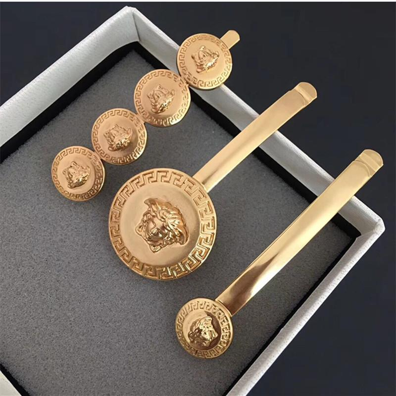 Fashion Personality Simple Coin Queen Head Clip Personality Metal Adult Hairpin Girl Hair Accessories Women Barrettes Hairclip