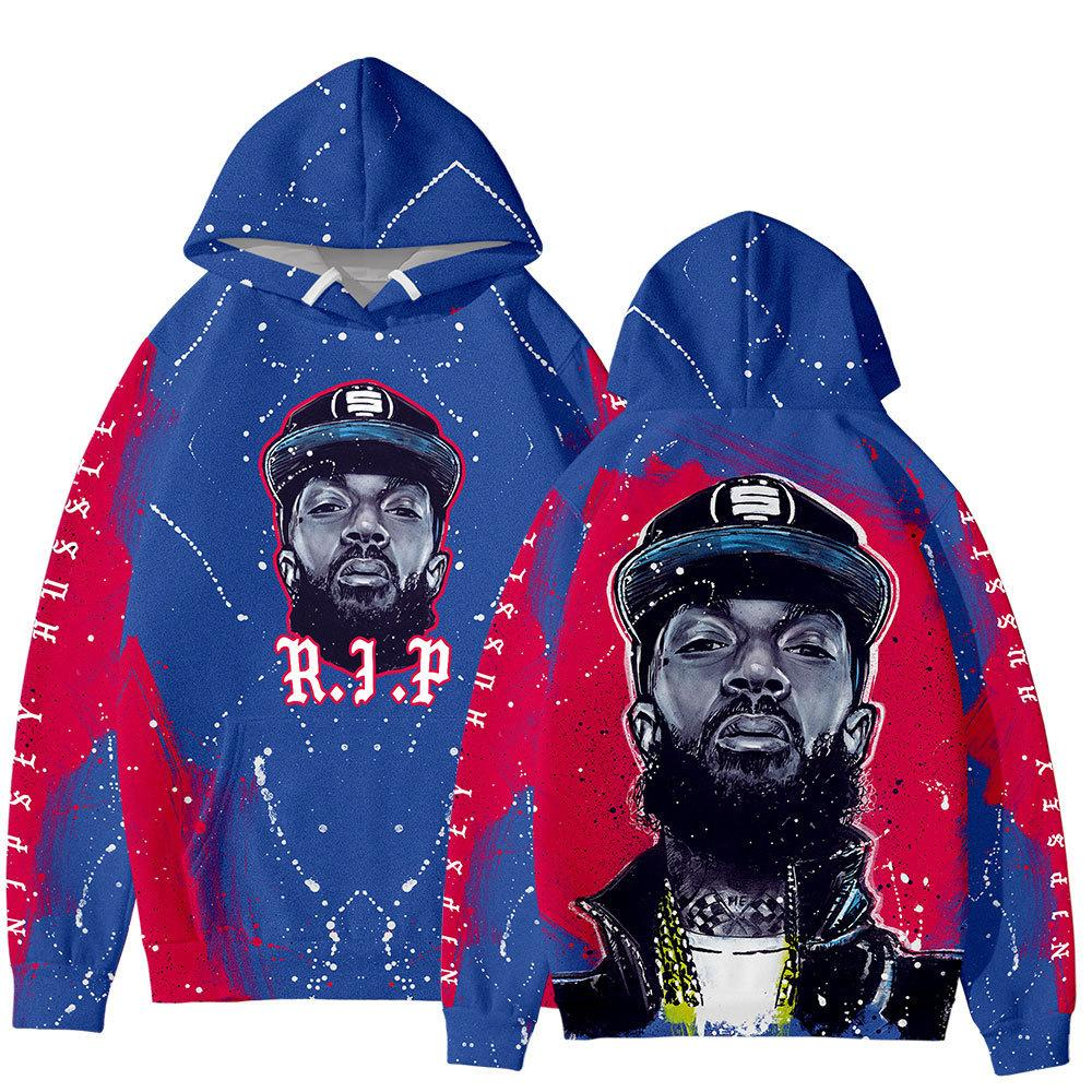 Songsanding Nipsey Hussle XXXTENTACI Designer Hoodie Hip Hop Zipper camisola Moda Designer Jacket Casual Hoodie Jacket Tamanho S-4XL
