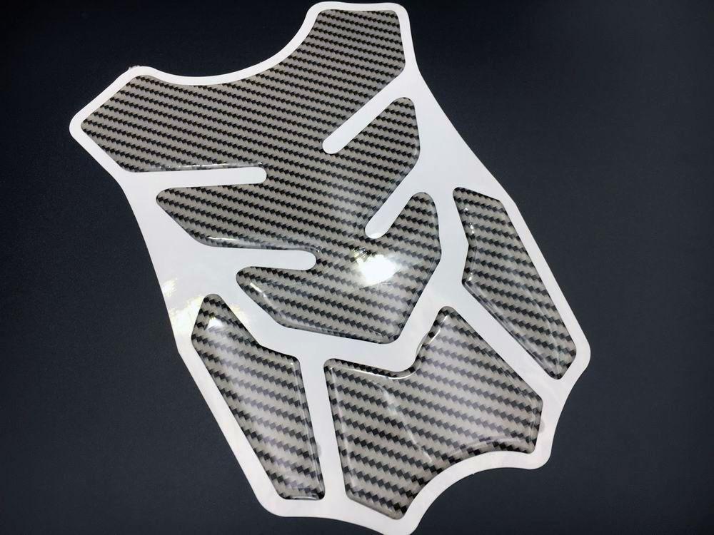 Pegatina protector de tanque de combustible de motocicleta modelo general etiqueta de carreras de fibra de carbono pegatina
