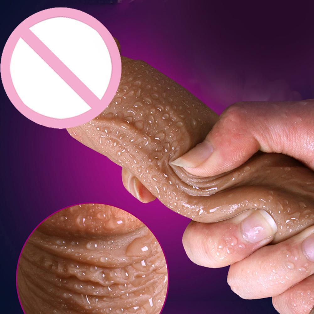 GaGu Soft Penis Huge Big Dildo Realistic No Vibrator Suction Cup Sex Toys for Woman Lesbian Female Masturbation strapon Cock T191224
