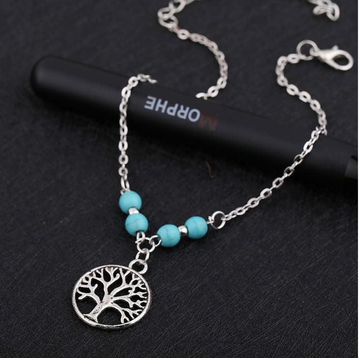 5 Estilos tobillo de la manera pulseras tortuga, estrella, cruz, árbol de la vida antigua del tobillo de cadena de plata de la cadena del pie para las muchachas / de las señoras