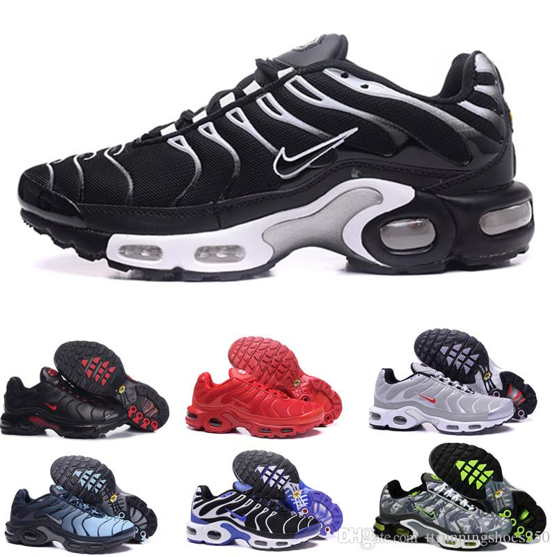 2018 Classic air tn shoes New Design men tn casual running shoes for tn requin cheap Breathable Mesh black white red trainer sports shoes