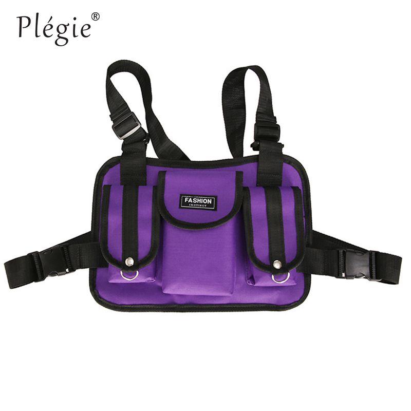 Plegie Multi Function Pocket Gilet 2019 New Fashion Patchwork Vest Best Match Hip Hop Vest Hombres Streetwear Ropa