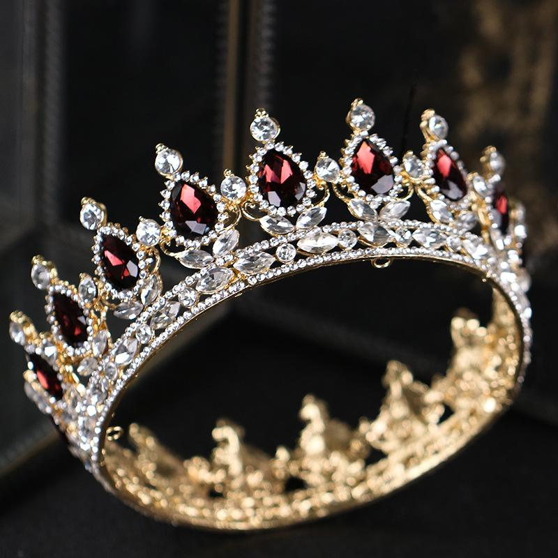 Luxo Crystal Crown Tiaras Mulheres Handmade Tiaras Crown cocar de noiva Acessórios do cabelo casamento cabelo enfeites XH