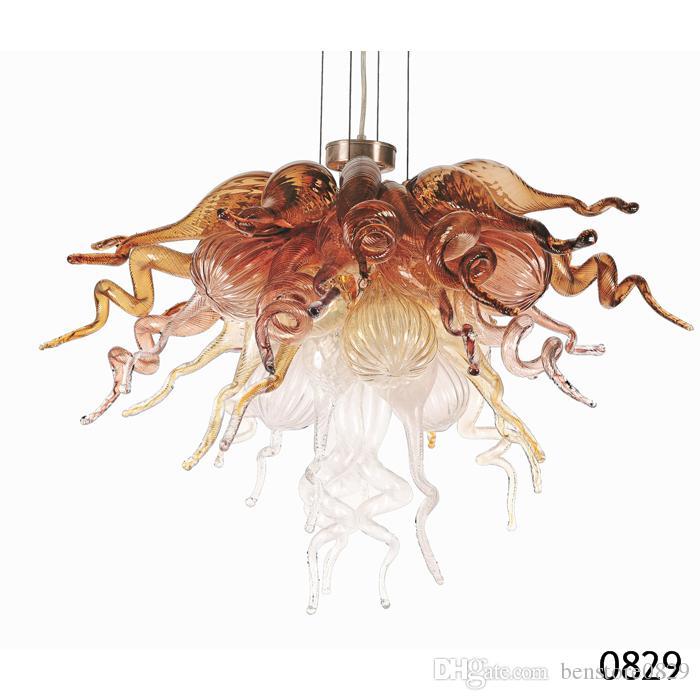 Arte moderno de cristal de diseño de iluminación moderno Arte Murano por encargo de luz LED fuente de la Casa Pequeña Size Habitación caliente del color de la lámpara