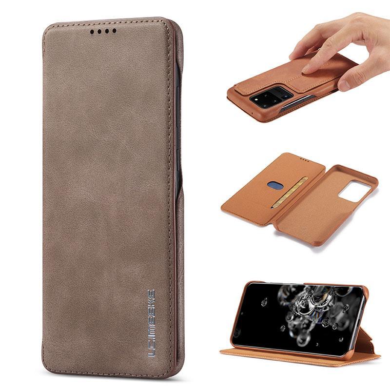 Magnet-Telefon-Kasten für Samsung S20 Plus Ultra-weiche TPU PU-Leder-Mappen-Kasten-Luxus-rückseitige Abdeckung mit Kreditkartensteckplätzen für iPhone