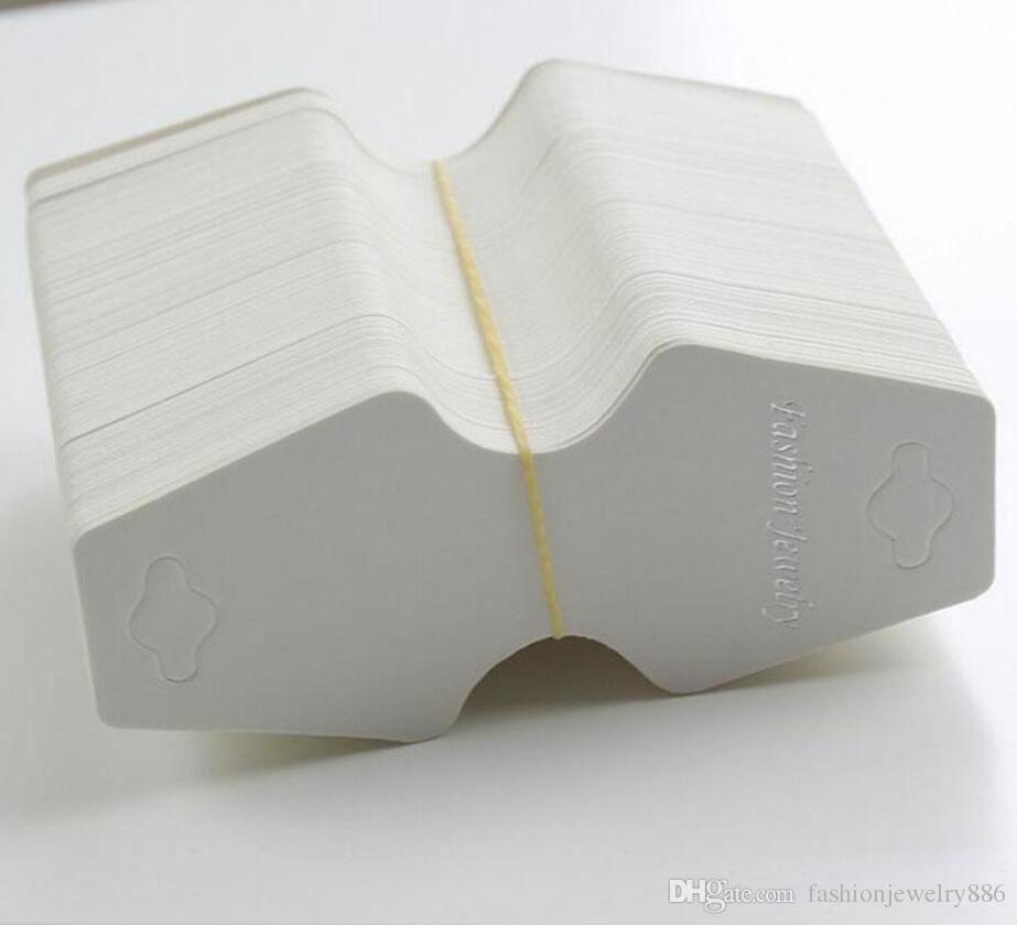 200 قطعة / الوحدة الأبيض diy بطاقات فارغة القلائد بطاقات عالية الجودة ورقة مجوهرات تغليف الإسورة سوار عرض قلادة حامل شنق العلامات