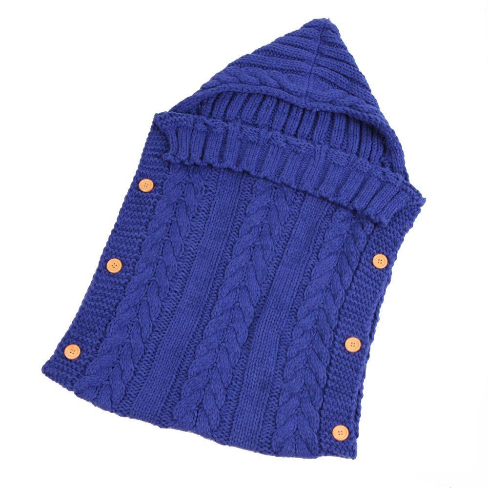 Chaud bébé Wrap Swaddle à capuche tricotée bébé nourrisson transport Sacs de couchage du nouveau-né Enveloppe enfants emmailloter Couverture Wrap