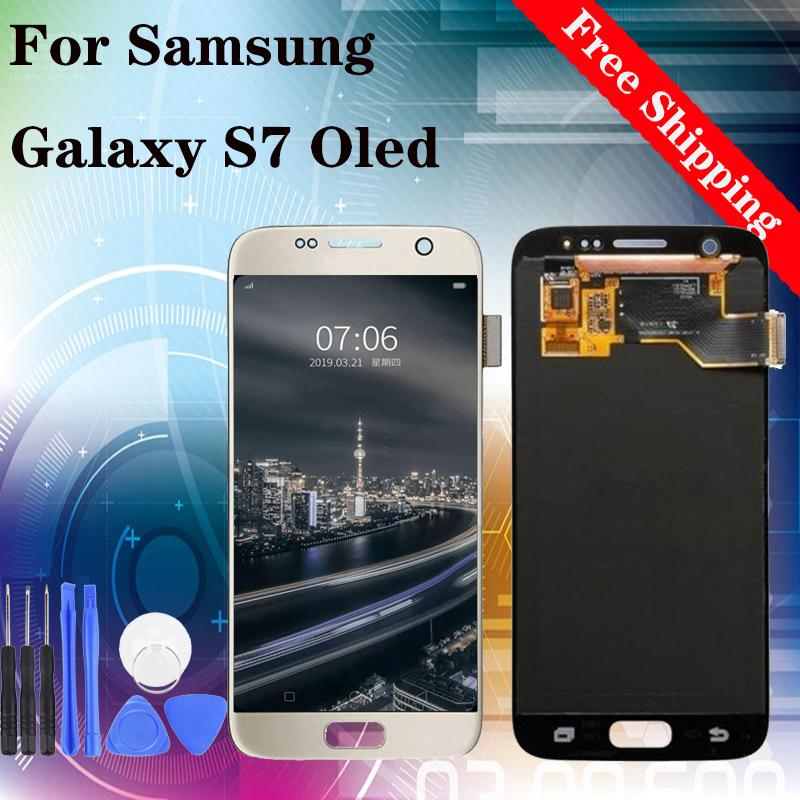 Super quality Oled for Samsung Galaxy S7 LCD Display Touch Screen Digitizer Assembly G930 G930F free DHL