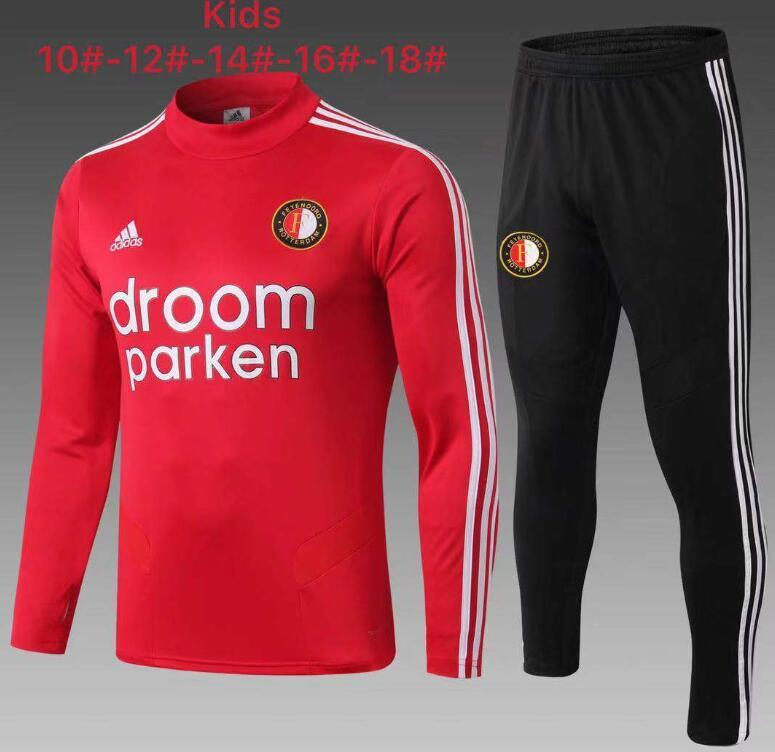 2019 2020 Feyenoords tracksuits kids tracksuit enfant Maillots foot Real Madrid soccer tracksuit sweater jogging survetement training #AQ85