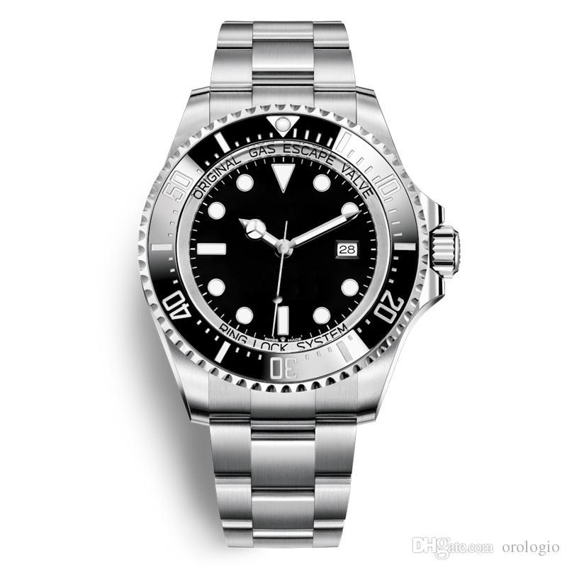 2020 Strap prata Men Automatic alta qualidade Assista Azul inoxidável Mens relógio mecânico 5ATM waterproof relógios Super luminosos para homens