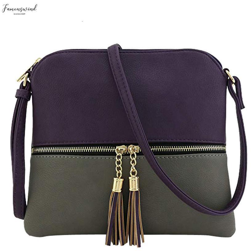 Femme Sacs à bandoulière en cuir Tassel bandoulière Hit Messenger couleur sac et sacs à main des femmes Sacs Designer