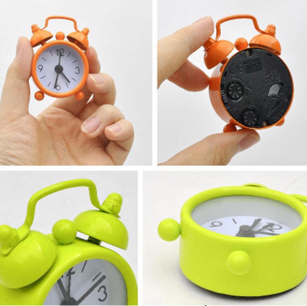 Yaratıcı Çalar Saat Sevimli Mini Metal Küçük Çalar Saat Elektronik Küçük Gürültülü Çalar Saat despertador reloj despertador 5.