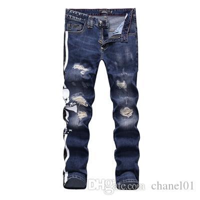 All'ingrosso slp blu nero distrutto mens slim denim dritto biker jeans skinny Casual lungo uomo jeans strappati Taglia 28-38 spedizione gratuita DSQ24