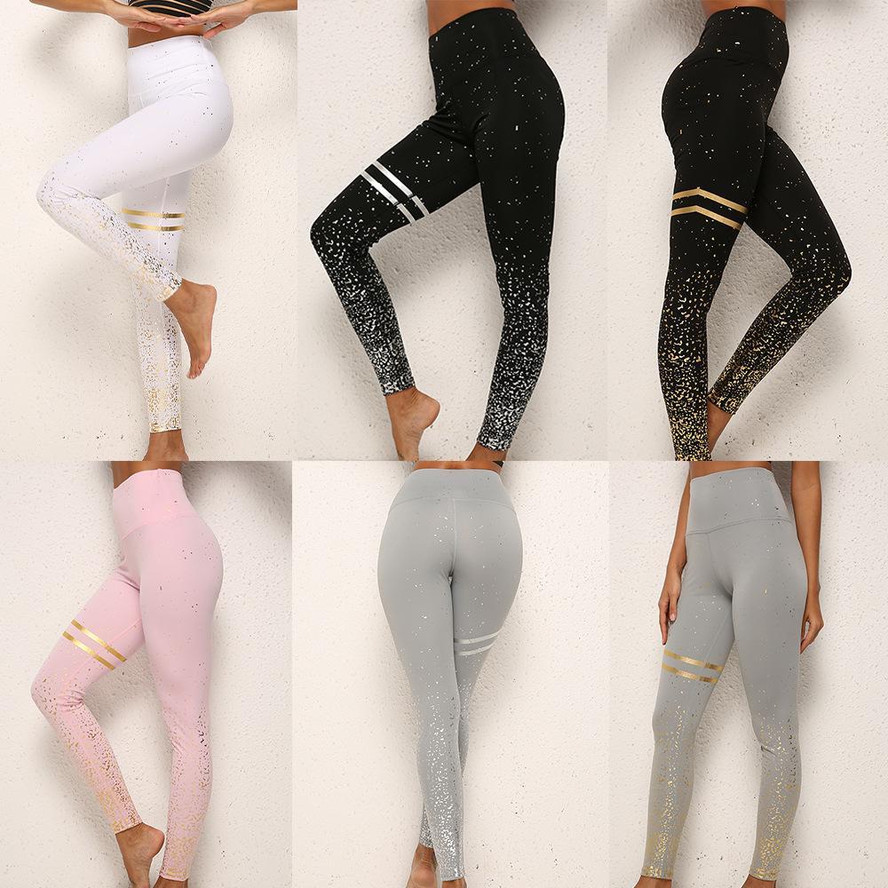 De nouvelles bronzantes sport imprimés haute taille pantalons leggings de fitness pantalon slim yoga