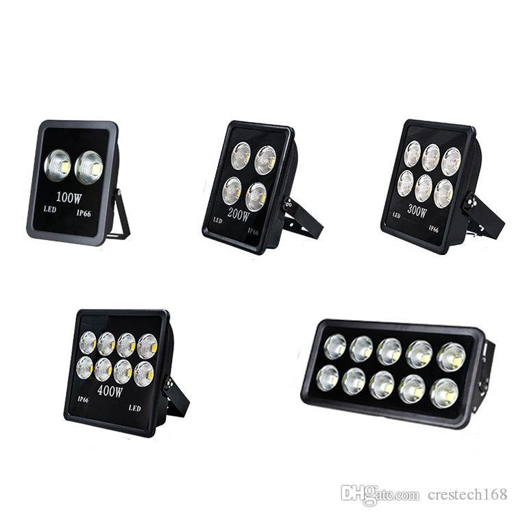 100W 200W 300W 400W 500W LED 야외 홍수 라이트 슈퍼 밝은 IP66 방수 일광 6000K 3000K 스포트라이트 백색 LED 조명