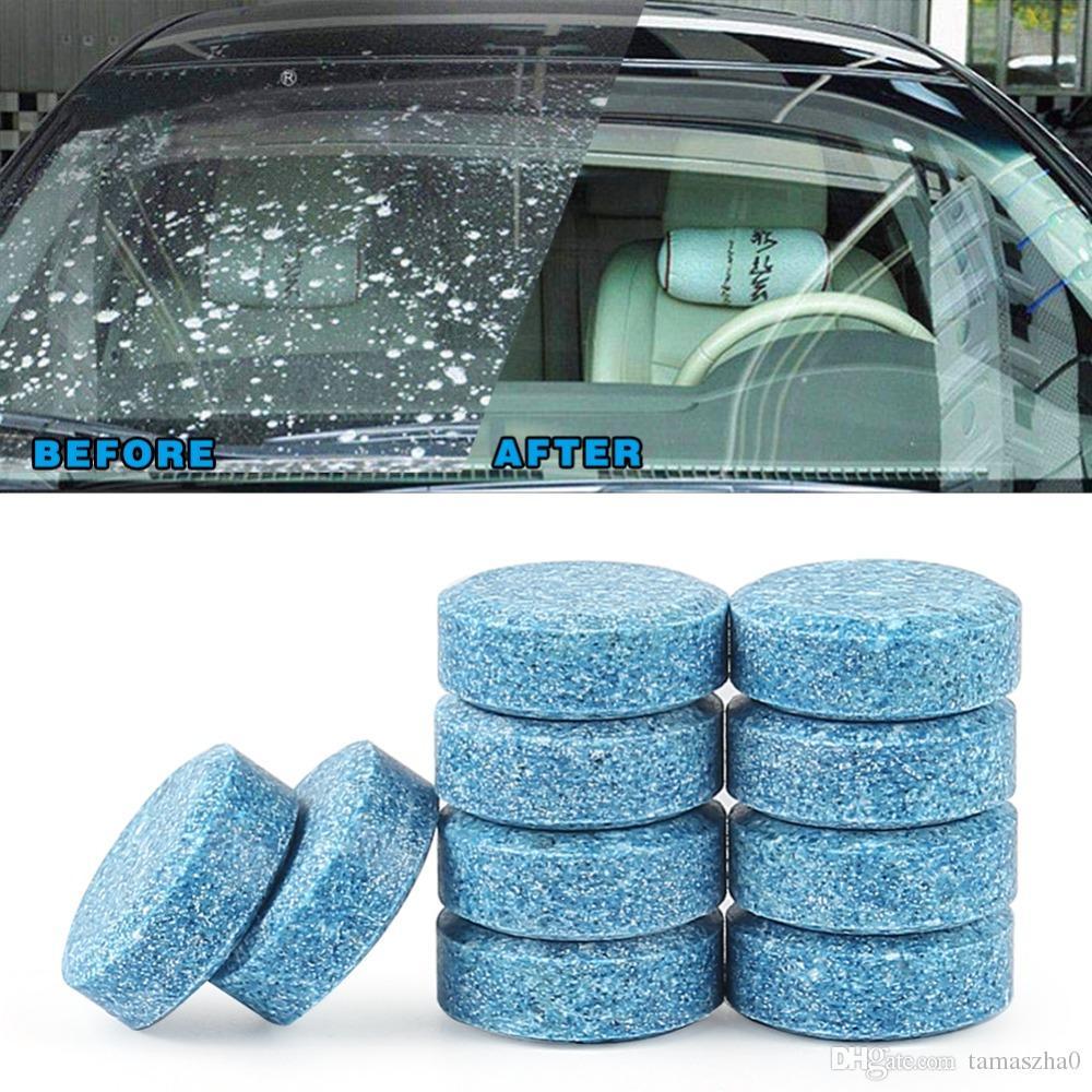 Lonfung LF82 سيارة الزجاج الأمامي أقراص غسالة نظيفة منظف السيارة الأمامي نافذة الخلفية تنظيف الصلبة ممسحة تنظيف أداة 6 قطعة / الوحدة