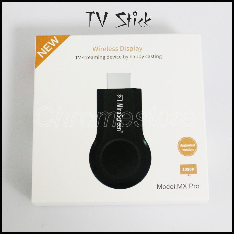 حار بيع MX PRO TV عصا FULL HD 1080P Anycast Miracast DLNA AirPlay WiFi عرض استقبال دونغل ل andriod ios الهاتف المحمول