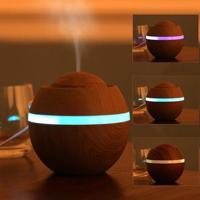 500ml titular de incenso USB Air Humidifier Aroma Ultrasonic LED 7 Cor Mudando o Difusor de Óleo Essencial Quemador