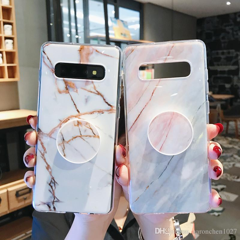 For Samsung Galaxy S10 Case Marble Phone Case For Samsung S10e S10 S9 S8 Plus S7 Edge Note 9 8 Cover Stand Holder Silicon Coque