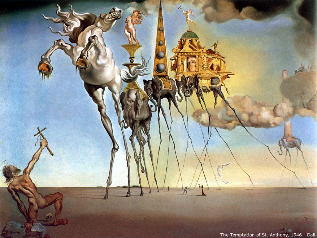 handpainted high quality salvador dali canvas painting for sale famous artist painting reproduction handmade nature wall art painting