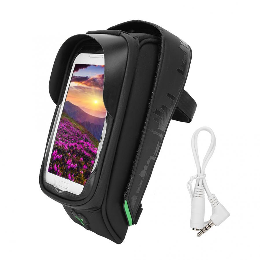 Bike Bicycle Front Frame Bags Bicycle Phone Holder Bags Waterproof Cycling Case Box for 6 inch Phone GPS