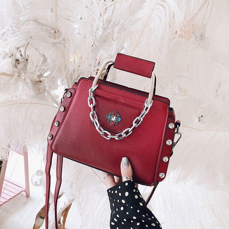 Borla Lady bag Moda Rebite bolsa de Ombro mulheres bolsa Crossbody Bolsa Mensageiro Mulheres Sacos aini / 3