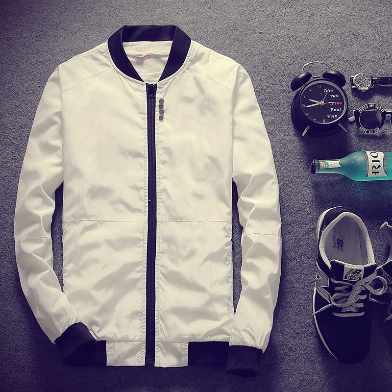 Abrigo de hombre, traje de primavera y otoño, nueva versión coreana de chaquetas y abrigos de chaqueta de cuello alto.