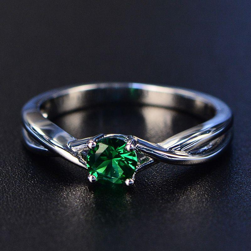 5 * 5 milímetros 1ct Quartzo Rosa Birthstone Anéis Sólido 925 Fine Jewelry For Women 3 cores de pedras preciosas Anel Hot 2020