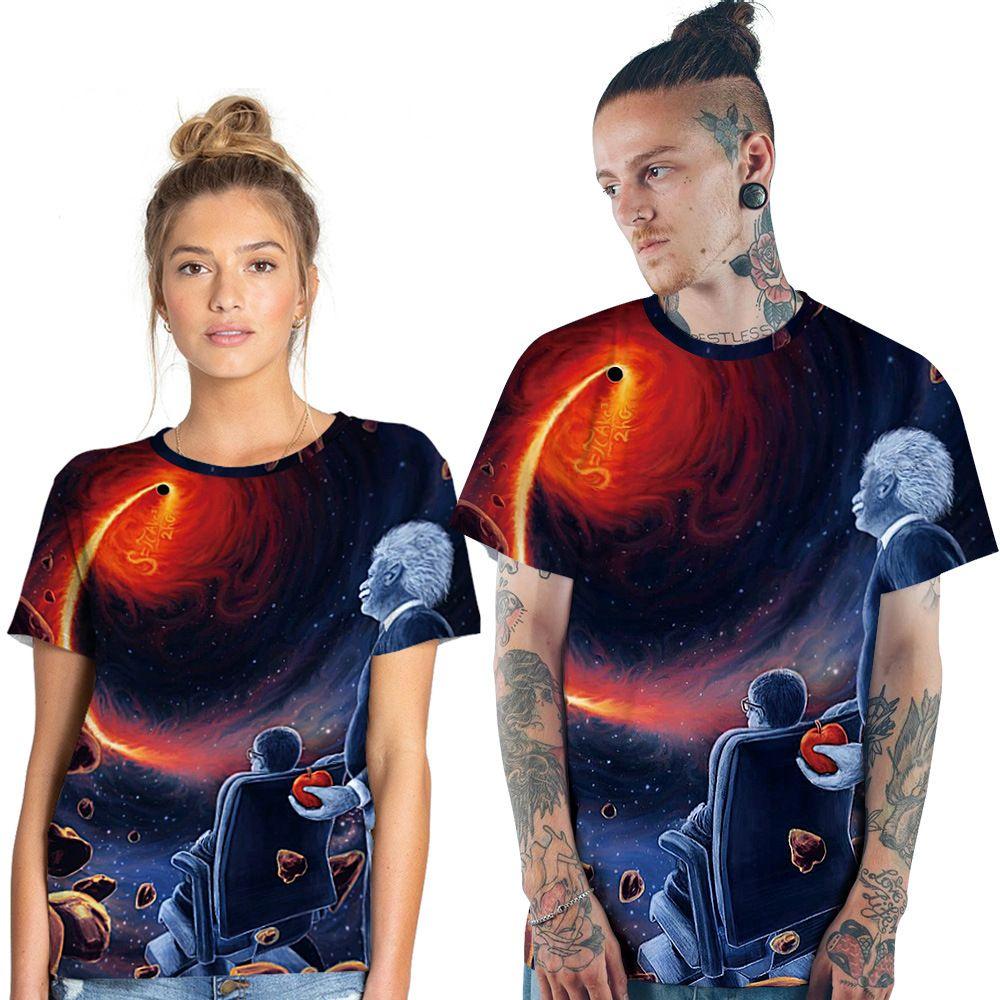 Mens//Womens Space Black Hole 3D T-Shirt Print Casual Short Sleeves Tops Tee