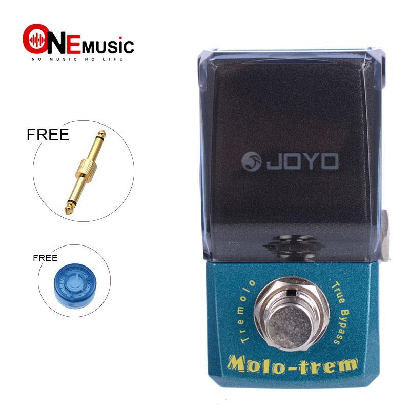 Altın pedalı konektör ve MOOER düğmesiyle Joyo Ironman JF-325 Molo-Trem Tremolo Gitar Efekt Pedal Gerçek Baypas