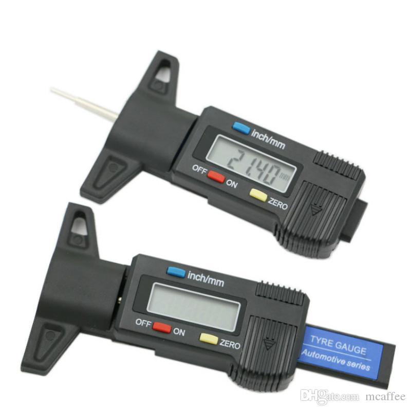 0-25mm Digital LCD Depth Gauge Car Tyre Tire Tread Brake Pad Shoe Pad Wear UK