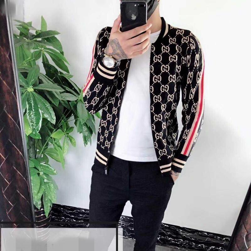 국제 하이 엔드 새로운 고품질의 스웨터 패션 알파벳 스탠드 업 셔츠 칼라 카디건 코트 남성의 여성을